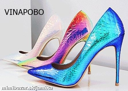 Vinapobo Autumn new fashion snake printing silver wedding shoes big size 35-43 sexy pointed toe high heels pumps women shoes