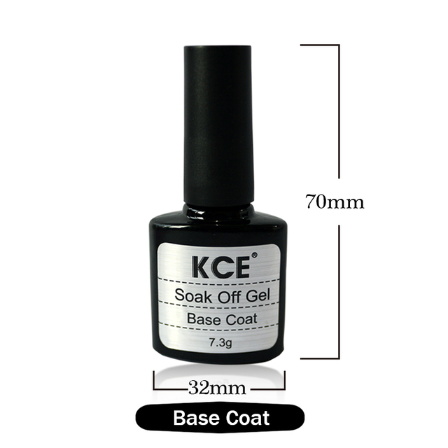 2016 sell like hot cakes KCE Brand 10ML Top coat + Base coat, Uv Gel Nail Polish Primer Untuk Dekorasi Nail Art Women