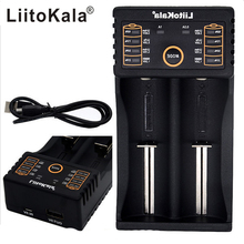 LiitoKala Original USB Intelligent Battery Charger Power Bank Function for Ni-MH Lithium for 26650 18350 14500 18650 Battery цена и фото