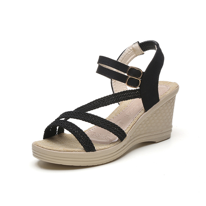 KUIDFAR Women Shoes Summer Women Sandals Wedges Sandals Shoes Woman Summer Footwear Platform sandals phyanic 2017 gladiator sandals gold silver shoes woman summer platform wedges glitters creepers casual women shoes phy3323