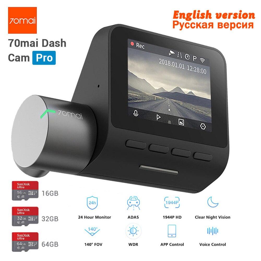 Neue Xiaomi 70mai Dash Cam Pro GPS IMX335 WIFI Stimme Smart Control Night Version DVR 1944 P HD 140FOV Auto cam 24 H Parkplatz Monitor