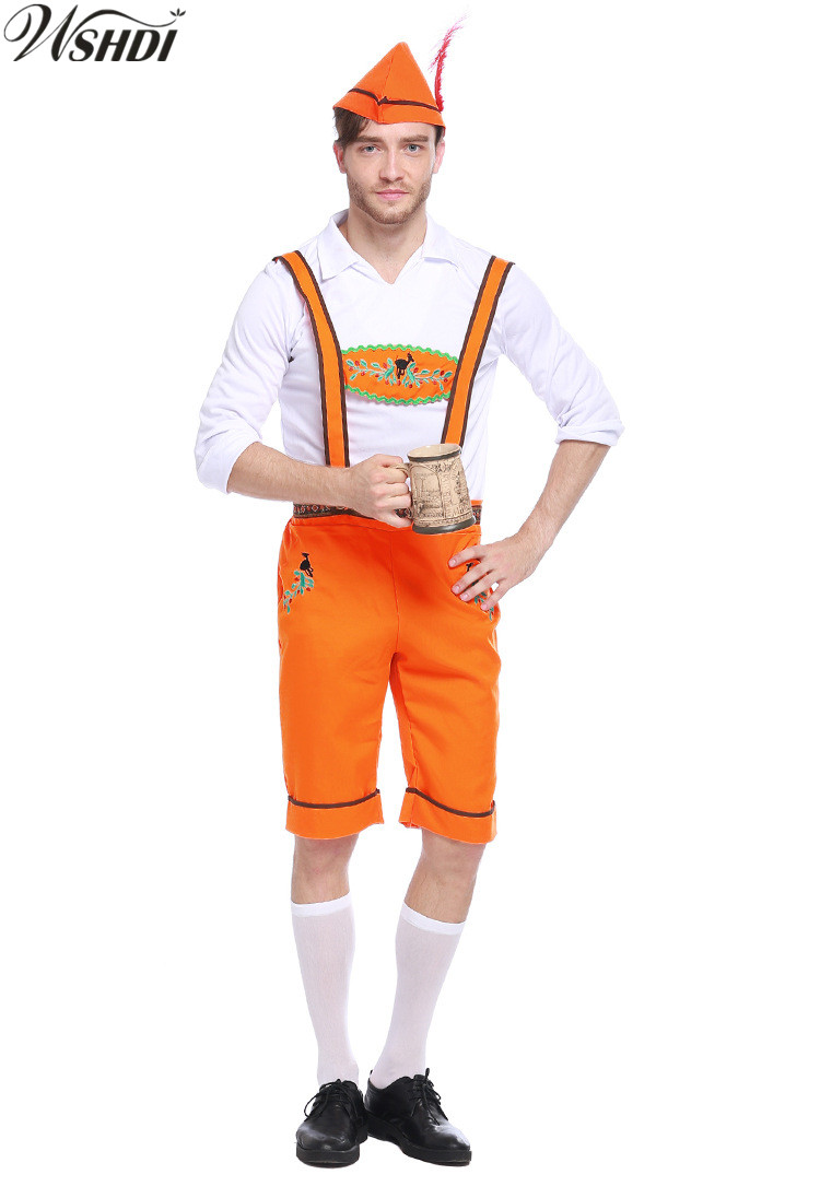 Hot Selling German Beer Man and Women Costume Adult Oktoberfest Costume Beer Girl Maid Costume Halloween Cosplay Party Dress