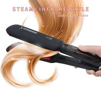 Professional Ions Steam Hair Straightener Infrared Flat Iron Ceramic Hair Comb LCD Display Styling Tool Straightening