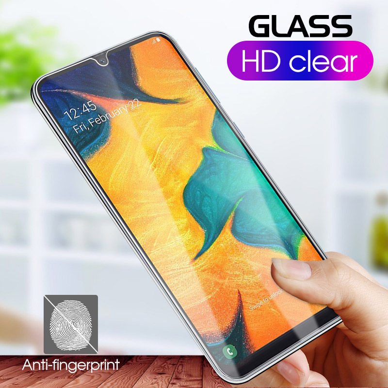 9H Screen Protector Glass For Samsung Galaxy A40 A10 A20 A50 A30 A70 A60 A80 A90 M40 M30 M20 M10 Full Cover Tempered Glass Films in Fitted Cases from Cellphones Telecommunications