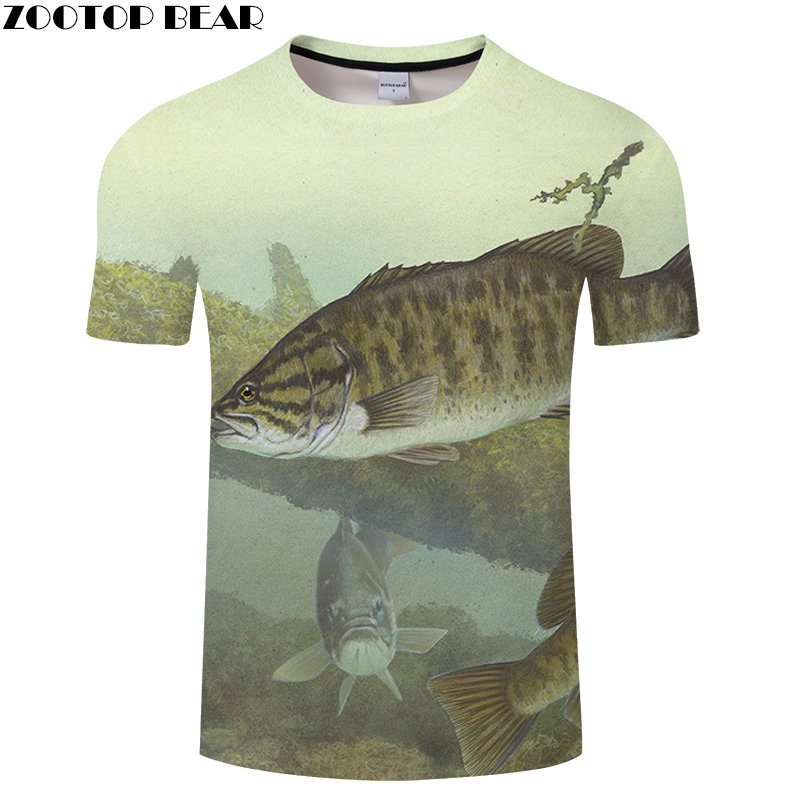 Deep Sea Fish 3D Print Men Shirt Male Tee Shirts Quick Dry Fitness Breathable Star Wars Summer Vacation Casual Tops ZOOTOPBEAR