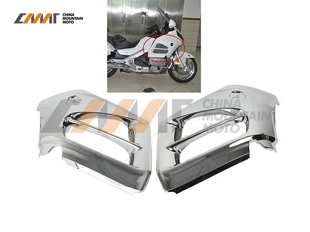 Chrome Mid Front Covers Fairing case for Honda GL1800 Goldwing 2012-2015 2013 14 chrome motorcycle front fairing headlight lower grill case for honda goldwing 1800 gl1800 2001 2011