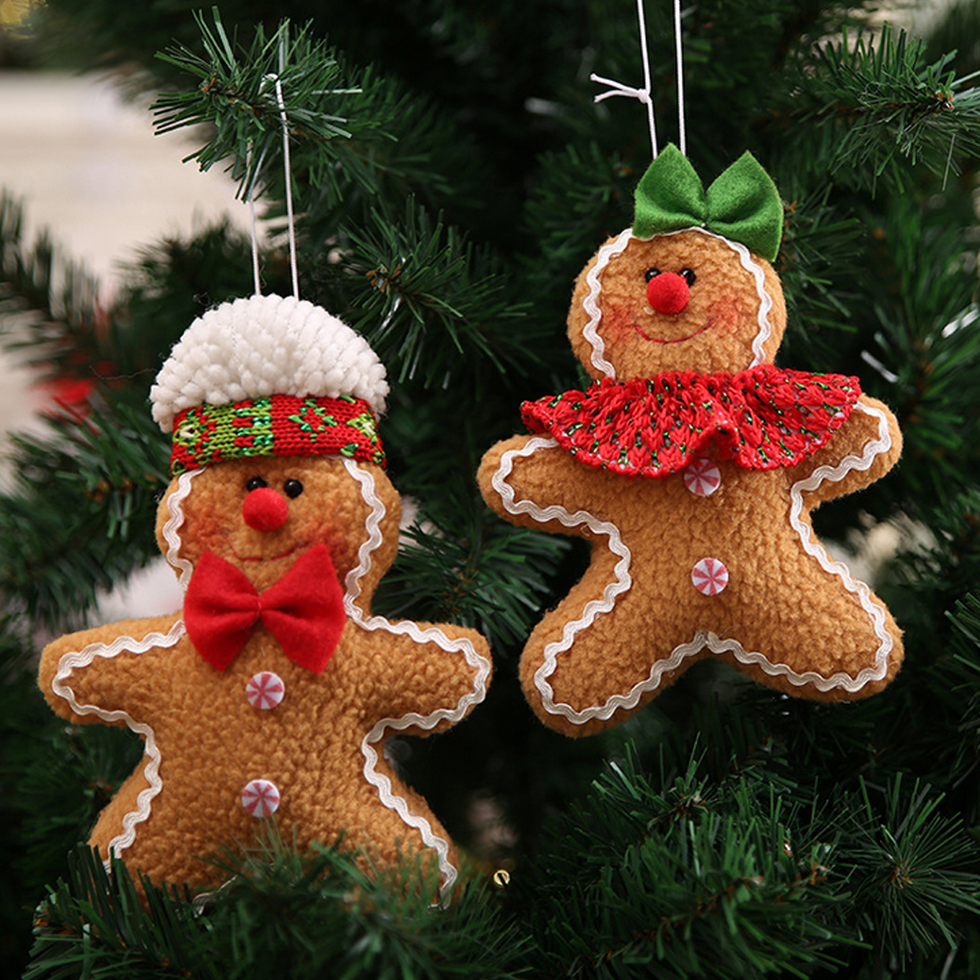 2018 gingerbread man hanging merry christmas ornaments gift ornament christmas tree decoration festival party supplies in pendant drop ornaments from home - Gingerbread Christmas Tree Decorations