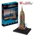 Kingtoy LED 3D головоломки кубических 3 д пазл-эмпайр Стейт Билдинг СВЕТОДИОДНЫЕ издание Ребенок Diy Игрушки
