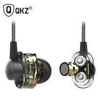 QKZ DM8 Earphone fone de ouvido sem fio auriculares audifonos Mini Original hybrid dual dynamic driver in-ear earphones mp3