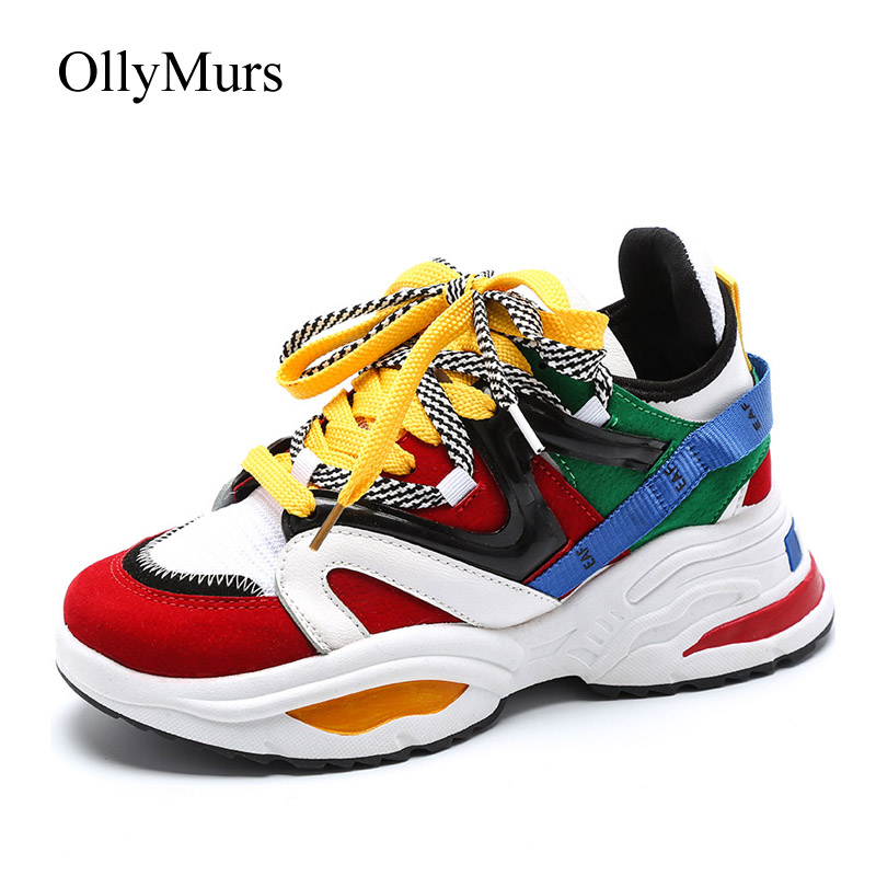 Shoes Women Platform Sneakers Patchwork zapatillas mujer Spring New chaussures femme Fashion Brand Ladies footware MulticolorShoes Women Platform Sneakers Patchwork zapatillas mujer Spring New chaussures femme Fashion Brand Ladies footware Multicolor
