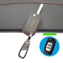 3 кнопки кожаный чехол для автомобильных ключей для LADA Priora Sedan sport Kalina Granta Vesta X-Ray XRay/для Renault Key shell fob