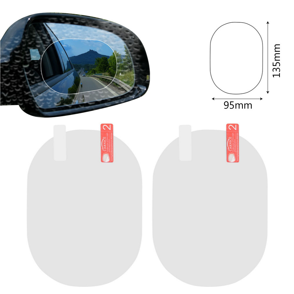 2PCS/Set Anti Fog Car Mirror Window Clear Film Anti-glare Car Rearview Mirror Protective Film Waterproof Rainproof Car Sticker 9