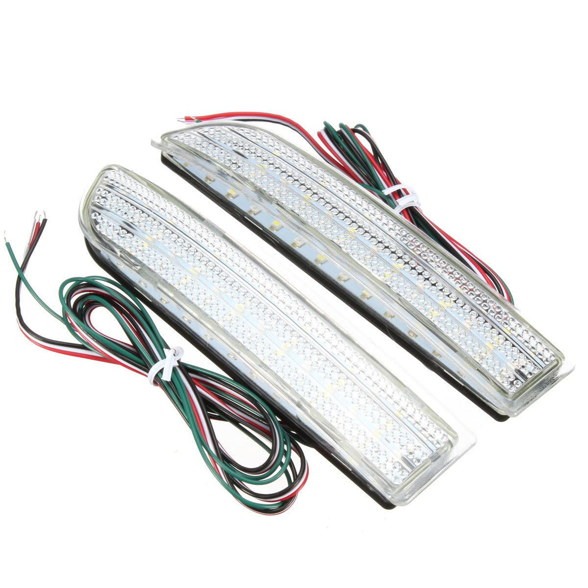2Pcs Rear Bumper Reflector Backup LED Brake Stop Running Tail Light For Toyota RAV4 Scion xD 20a 12 24v solar regulator with remote meter for duo battery charging