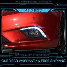AKD car styling DRL per Mazda 6 mazda6 atenza 2013-2016 di colore Bianco luce corrente di giorno della lampada della nebbia di Giorno del LED luce corrente di giorno