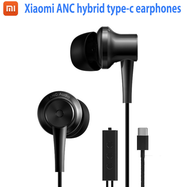 Brands Original Xiaomi ANC Earphones Hybrid Type-C Charging-Free Mic Line Control for Xiaomi Mi6 MIX Note2 Mi5s /Plus Mi5 аксессуар чехол xiaomi mi5 cojess silicone 0 3mm grey