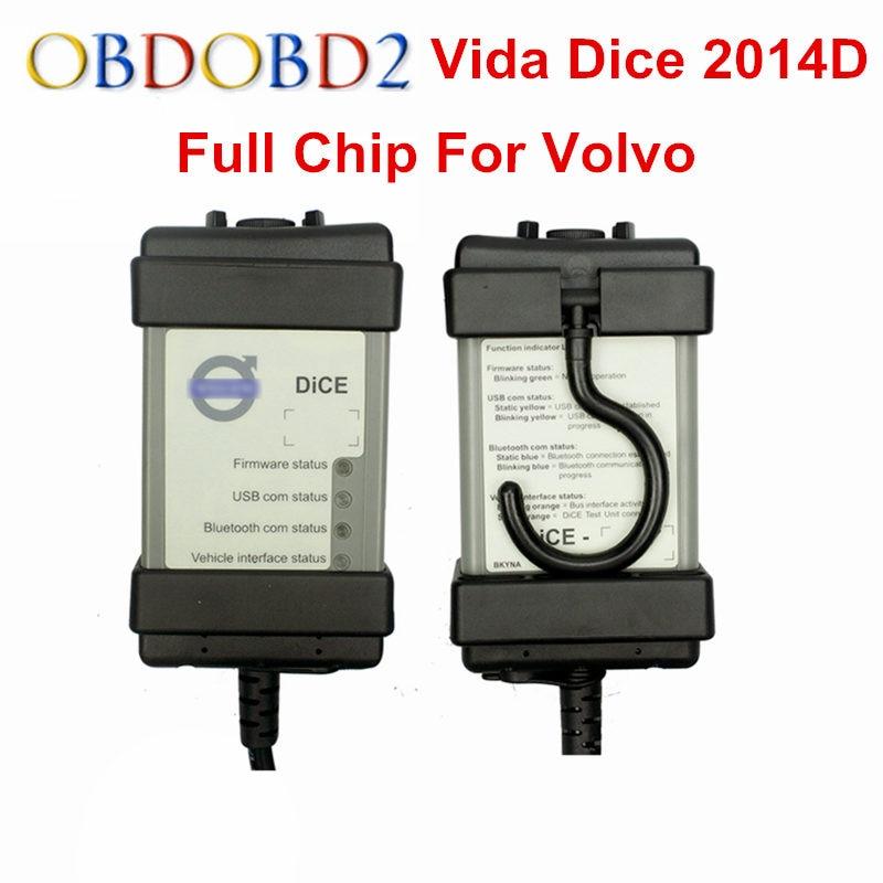 Prix pour Plein Puce Pour Volvo Vida Dice Date 2014D Outil De Diagnostic Multi-Langue Pour Volvo Dés Pro Vida Dice OBD2 Auto Scanner