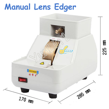 50Hz Manual Lens Edger Double Wheel Holder Hand Mill Optical Processing Grinder Rough & Fine& V Shape Grinding Machine CP-7-35WV