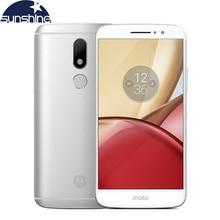 Оригинал Motorola Moto М XT1662 4 Г LTE Мобильный телефон 5.5 »16.0MP Octa ядро 4 Г RAM 32 Г ROM Dual SIM Отпечатков Пальцев NFC Смартфон