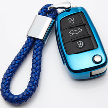 Soft TPU Remote Car Key Case Cover Protection For Audi C6 A7 A8 R8 A1 A3 A4 A5 Q7 A6 C5 Holder Shell Car-Styling