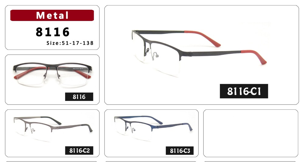 45bea12fb0 Hotsale 50% less 1pc Black Red High Quality Eyeglasses frame women clean  Lens stainless steel myopia optical frame with case-in Eyewear Frames from  Women s ...