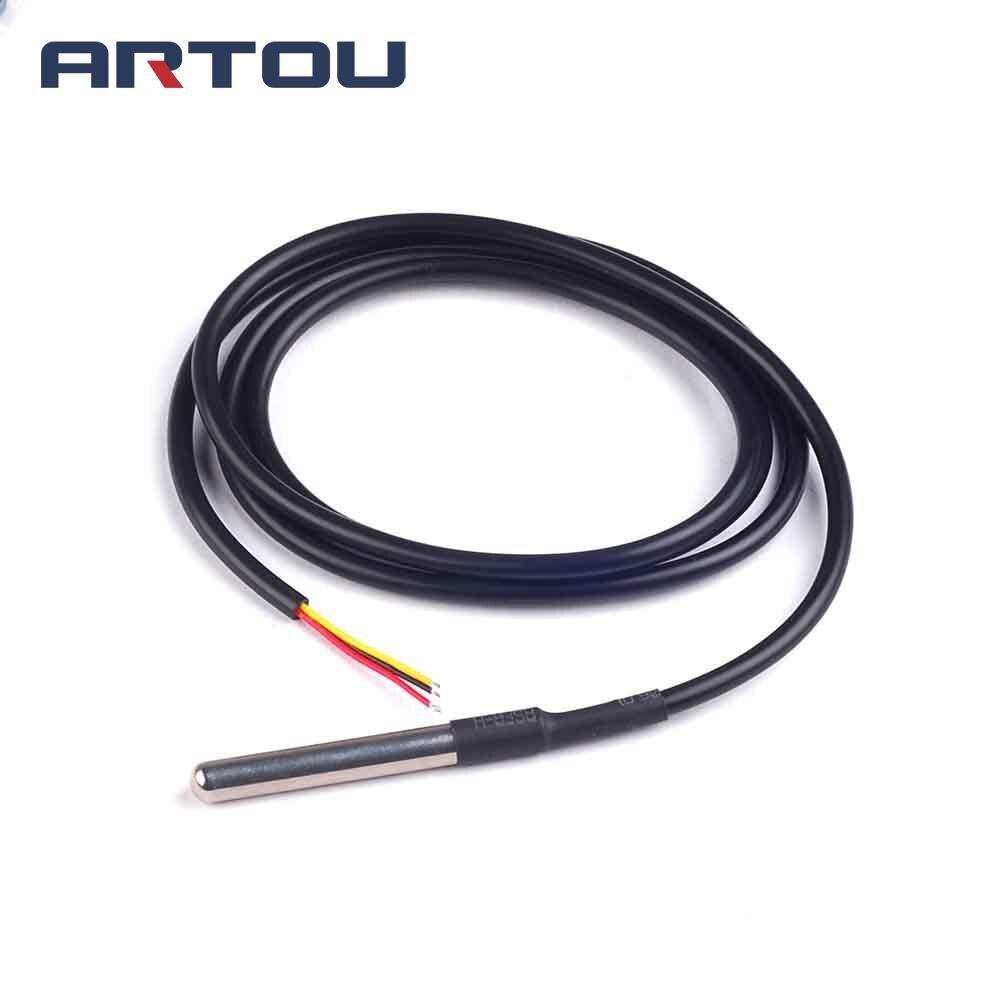 1pcs 1meters Digital Temperature Temp Sensor Probe Ds18b20 Stainless Steel Package Waterproof 100cm