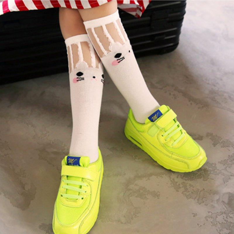 Child-Baby-Girls-High-Knee-Socks-School-Cat-Lace-Stockings-Leg-Warmer-Black-White-4
