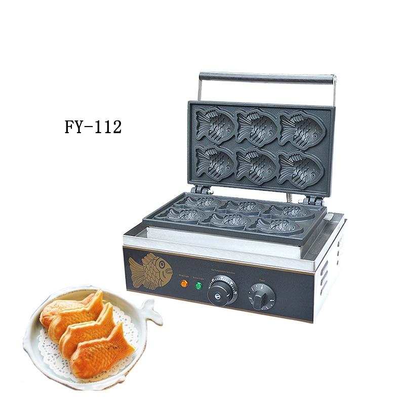 Gâteau de poisson coréen restauration rapide forme de poisson électrique Machine de fabrication de Wallfe 2 options comme images