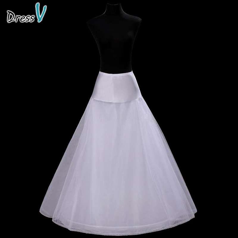 Dressv simple style A-line two Layers Wedding Petticoat white bridal petticoat wedding accessories underskirt wedding petticoat