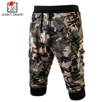 2017 Mens Shorts Casual Bermuda Brand Camouflage Lace Compression Male Cargo Shorts Men Linen Fashion Men
