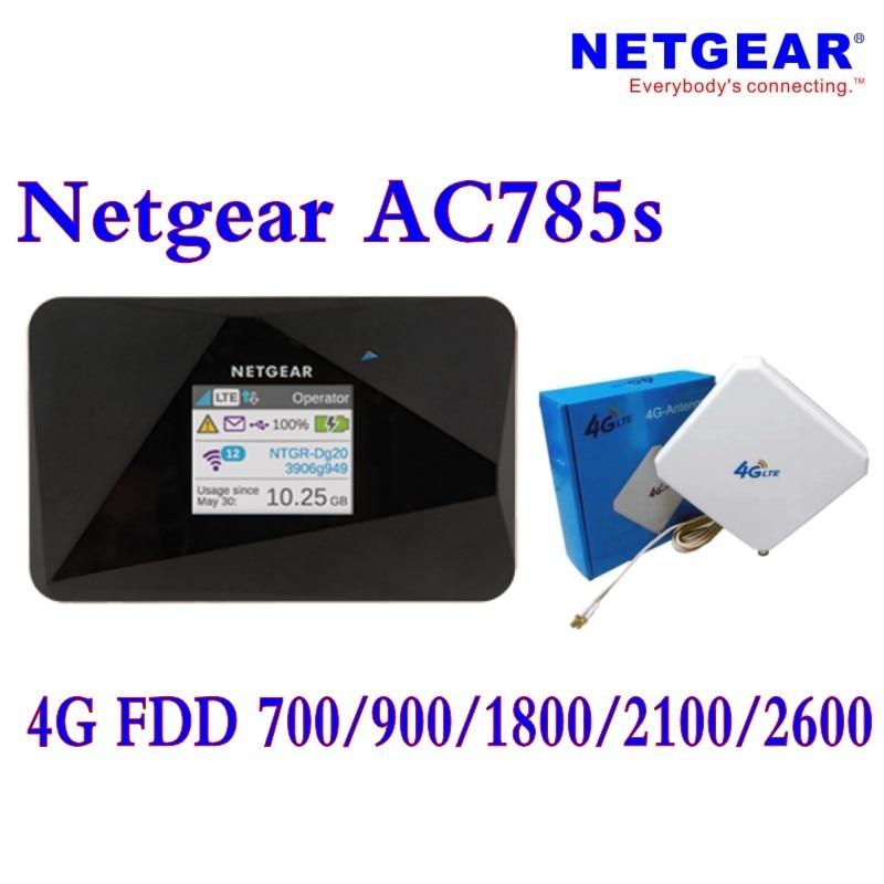 Unlocked Netgear AirCard 785S (plus 4g antenna)LTE Mobile Hotspot Dual band Wi-Fi 2.4GHz/5GHz 4G FDD 700/900/1800/2100/2600MHZ