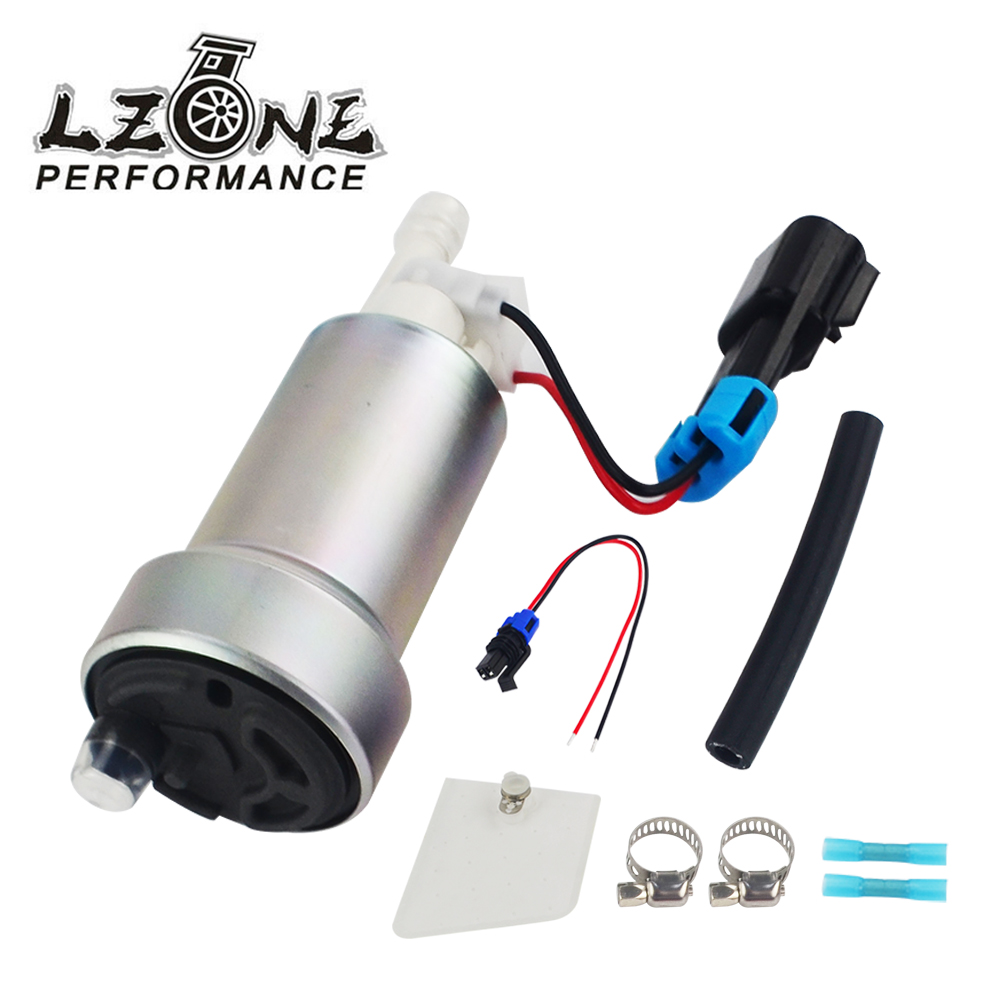 LZONE - E85 Racing High Performance internal Fuel Pump 450LPH F90000267 & Install Kit JR-FPB007 lzone racing black aluminium fuel surge tank with cap foam inside fuel cell 40l without sensor jr tk21bk