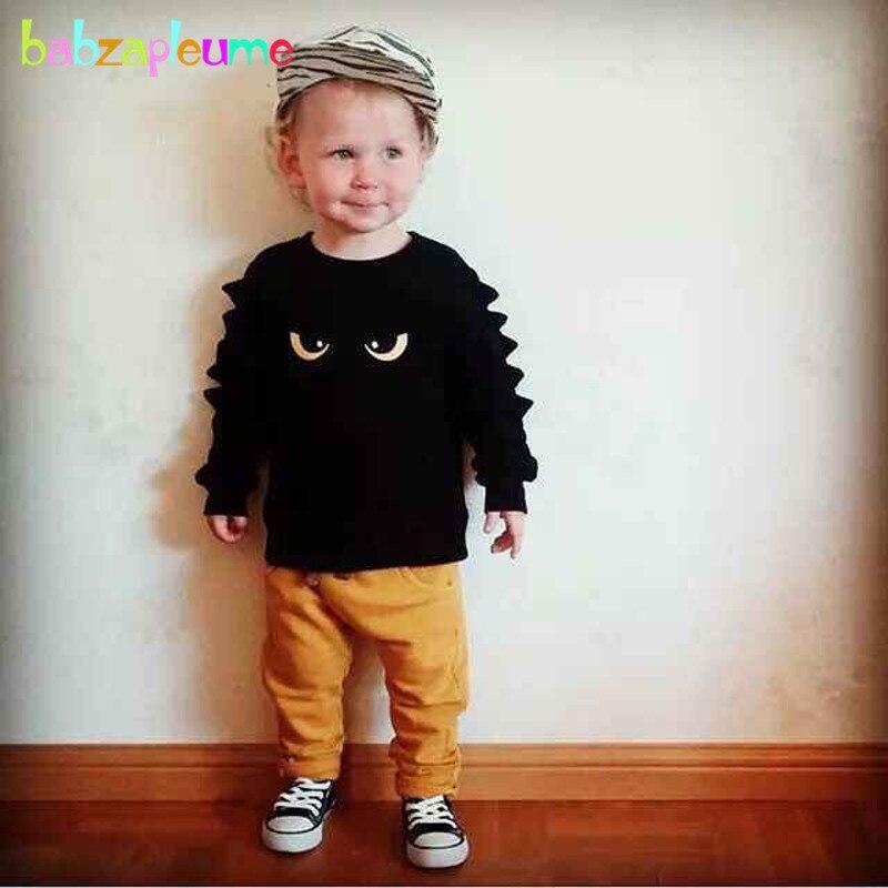2 шт./0-5years/Демисезонный одежда для маленьких мальчиков Повседневное мультфильм милый ребенок Костюмы футболка + Брюки для девочек Брендовая...