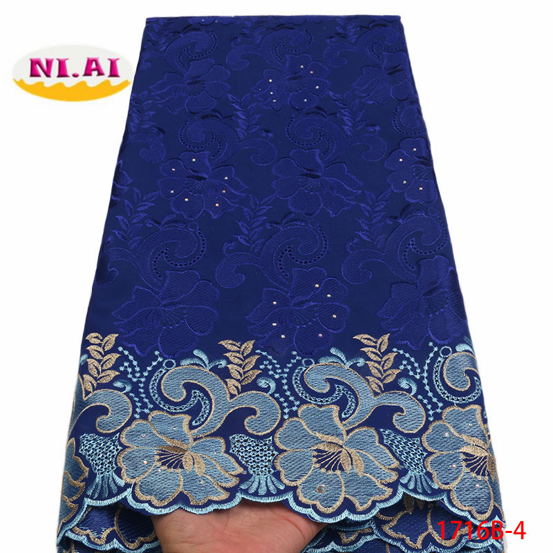 Image 4 - 2018 High Quality African Swiss Voile Lace Fabric With Stones Soft Embroidery Dry Voile Lace Materials In Switzerland XY1716B 1-in Lace from Home & Garden