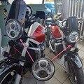 Envío Gratis DOT Aprobado luz de Cruce de Alta Ronda Llevó Linterna de La Motocicleta Con la Mitad Del Ojo Del Ángel para Honda CB400 Hornet 250