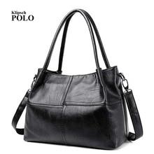 Fashion Ladies Hand Bag Women's Genuine Leather Handbag Black Leather Tote Bag Bolsas femininas Female Shoulder Bag