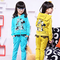 Girls Outfits Long Sleeve Cartoon Clothing Sets For Girls Tracksuits Children Sports Suits Brand Lace Sportswear 2 3 4 5 6 Years