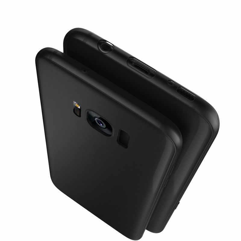 Caso fosco para Samsung Galaxy A5 A7 A3 2017 J3 J5 J7 Prime 2016 A6 A8 A7 A9 J8 J4 j6 Plus 2018 Celular Preto Macio TPU Tampa Traseira
