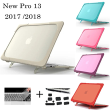 3IN1 for MacBook New Pro 13 2016 2017 2018 Laptop Case Stand A1706 A1708 A1989 Keyboard Cover For MacBook Pro 13 Touch bar Cover original new a1706 keyboard czech for apple macbook 13 3 a1706 czech keyboard late 2016 mid 2017 year