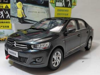 1:18 Diecast Model for Citroen C-Elysee Gray Sedan Alloy Toy Car Miniature Collection Gifts