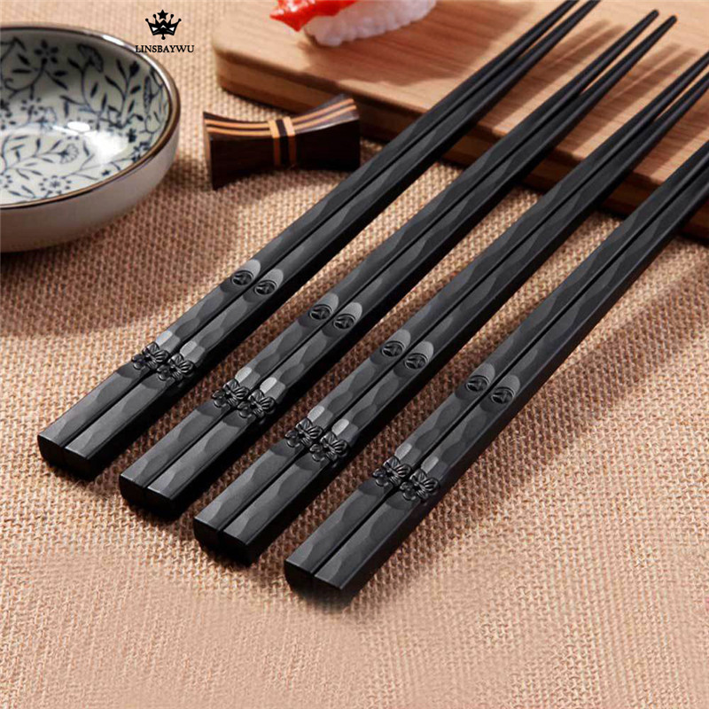 1 Pair Hot Sale Japanese Chopsticks Chinese Reusable Non-Slip Sushi Sticks Kitchen Accessories Free Shipping