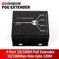 Novo Mini 10/100 M 4 Portas POE Extender 25.5 W-Estender A 120 Metros de Rede POE IEEE802.3af Dispositivos Plug-and-Play