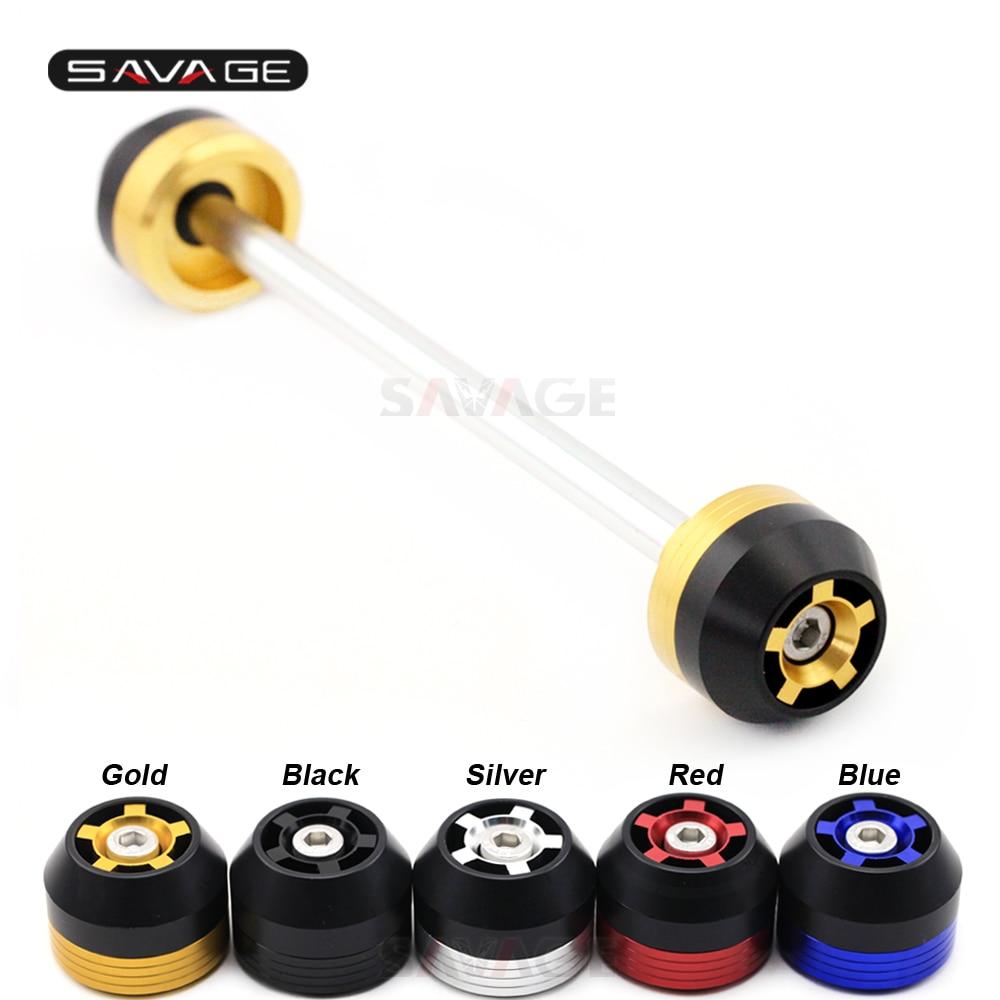 Front Fork Wheel Slider Crash Protector For SUZUKI GSX 1400 /SV1000 /DL 1000 /GSR600 Motorcycle Accessories Bobbins Performance