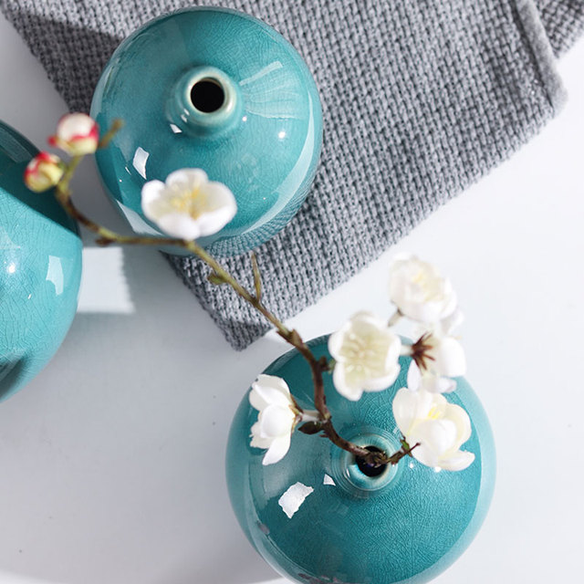 Modern Decorative Vase Crystalline Ceramic Small Flower Vases For Home Office Tabletop Restaurant Living Room Kitchen Hotel Gift 4