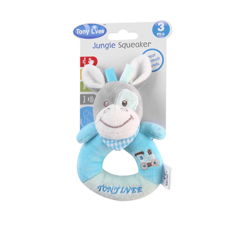 Plush Animal Rattle Bell Jingle Sound Musical Hand Shaker Baby Grasping Toys