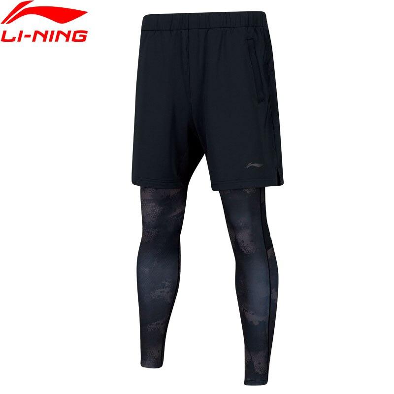 Li-Ning Для мужчин серия Бадминтон тренировочные штаны дышащий гибкие полиэстер комфорт внутри Спортивные штаны брюки AAPN293 MKY420