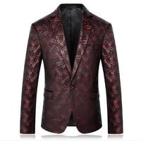 Мужской блейзер с принтом дизайнерская мужская одежда мужской блейзер с принтом куртки стильные Необычные Цветочные приталенные мужские к