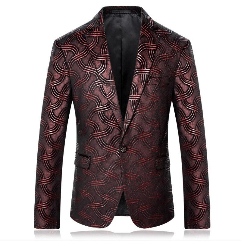 Мужской блейзер с принтом, дизайнерская мужская одежда, мужской блейзер с принтом, стильные фантазийные Цветочные Slim Fit, мужские костюмы бле