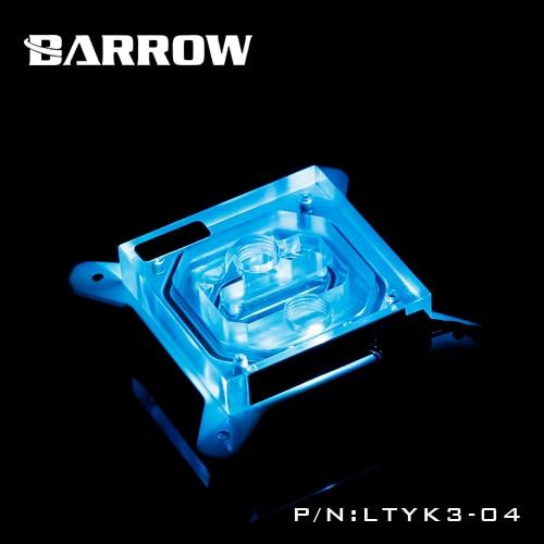 Barrow CPU Cooling Block use for Intel socket LGA1150 1151 1155 1156 Acrylic 0.4MM Microchannels RGB Copper Radiator Block