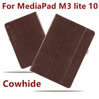 Case Cowhide For Huawei MediaPad M3 Lite 10 Covers Protective Protector Genuine Leather PU M3 Youth