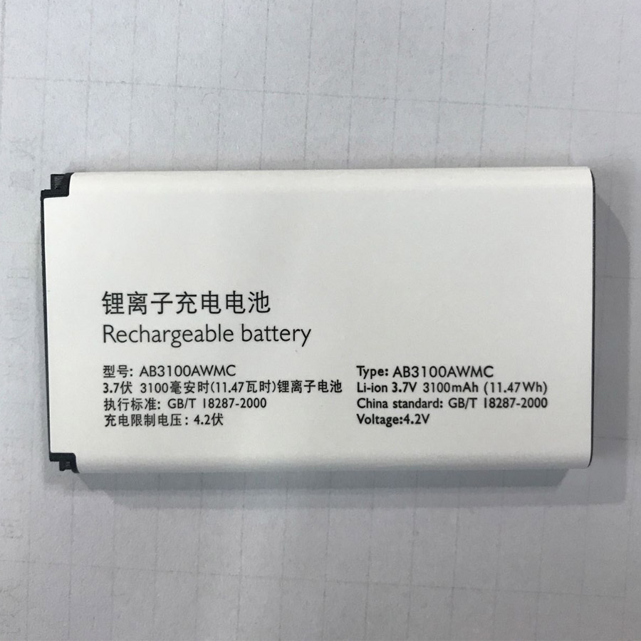 AB3100AWMT AB3100AWMC Battery For PHILIPS Xenium X1560 X5500 CTX5500 CTX1560 Smartphone/Smart Mobile phone +Tracking Number